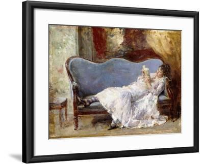 A Lady Reading-Eduardo-leon Garrido-Framed Giclee Print