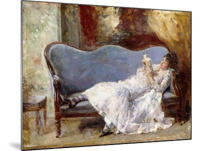 A Lady Reading-Eduardo-leon Garrido-Mounted Giclee Print