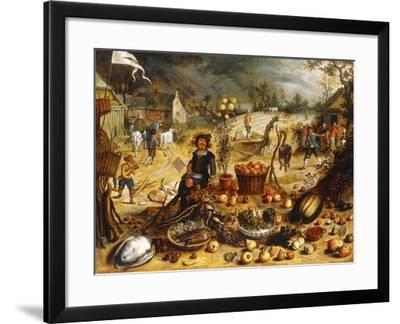 The Four Seasons - Autumn-Sebastian Vrancx-Framed Giclee Print