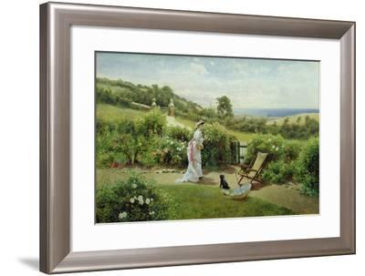 In the Garden, 1903-Thomas James Lloyd-Framed Giclee Print
