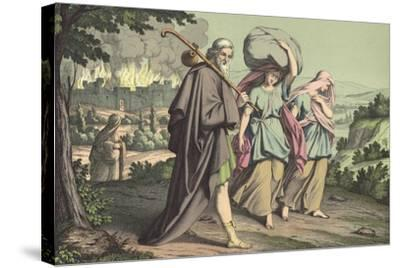 Lot Escaping from Sodom--Stretched Canvas Print