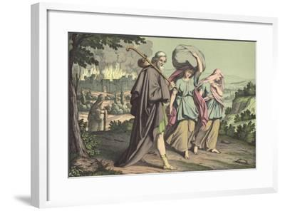 Lot Escaping from Sodom--Framed Giclee Print