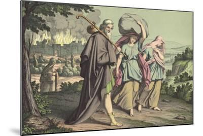Lot Escaping from Sodom--Mounted Giclee Print