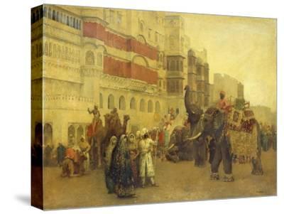 A Fete Day at Bekanir-Beloochistan, Bekanir-Edwin Lord Weeks-Stretched Canvas Print
