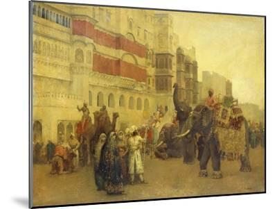 A Fete Day at Bekanir-Beloochistan, Bekanir-Edwin Lord Weeks-Mounted Giclee Print