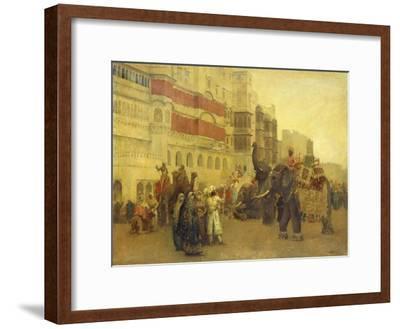A Fete Day at Bekanir-Beloochistan, Bekanir-Edwin Lord Weeks-Framed Giclee Print