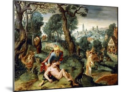 The Parable of the Good Samaritan--Mounted Giclee Print