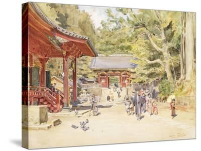 A Street Scene, Japan-Walter Frederick Roofe Tyndale-Stretched Canvas Print