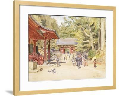 A Street Scene, Japan-Walter Frederick Roofe Tyndale-Framed Giclee Print