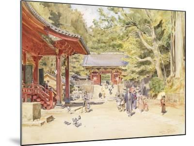 A Street Scene, Japan-Walter Frederick Roofe Tyndale-Mounted Giclee Print