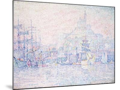 Marseille, La Bonne Mere, Morning Mist, 1907-Paul Signac-Mounted Giclee Print