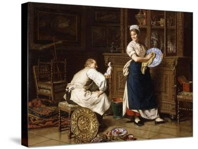 Spring Cleaning, 1876-Evert-jan Boks-Stretched Canvas Print