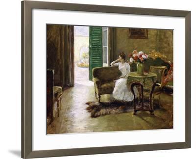 A Memory - in the Italian Villa-William Merritt Chase-Framed Giclee Print