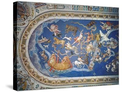 Astrological Ceiling, in the Sala Del Mappamondo-Giovanni De' Vecchi-Stretched Canvas Print