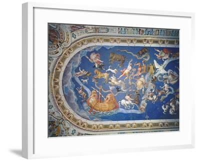 Astrological Ceiling, in the Sala Del Mappamondo-Giovanni De' Vecchi-Framed Giclee Print