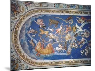 Astrological Ceiling, in the Sala Del Mappamondo-Giovanni De' Vecchi-Mounted Giclee Print