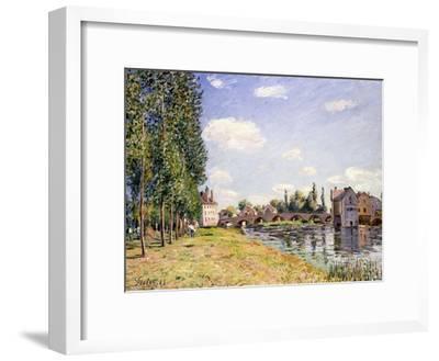 The Moret Bridge in the Summer, 1888-Alfred Sisley-Framed Giclee Print