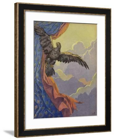 An Eagle Soaring into the Sky--Framed Giclee Print