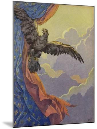 An Eagle Soaring into the Sky--Mounted Giclee Print