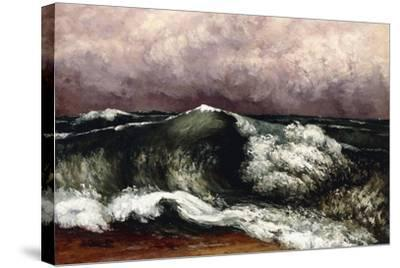 The Wave, 1869-Gustave Courbet-Stretched Canvas Print