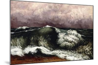 The Wave, 1869-Gustave Courbet-Mounted Giclee Print