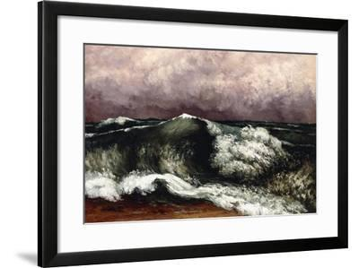 The Wave, 1869-Gustave Courbet-Framed Giclee Print