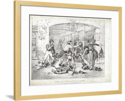 The Battle of A-Gin-Court--Framed Giclee Print