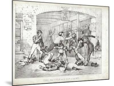 The Battle of A-Gin-Court--Mounted Giclee Print