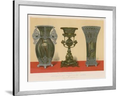 Artificial Chalcedony Vases by Salviati, Venice--Framed Giclee Print
