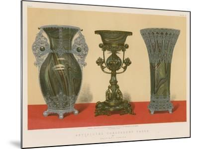 Artificial Chalcedony Vases by Salviati, Venice--Mounted Giclee Print