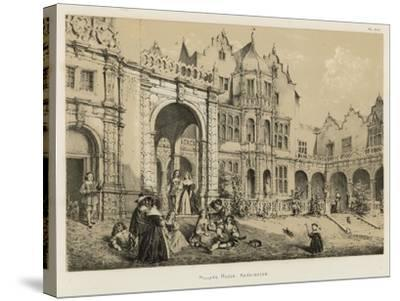 Holland House, Kensington-Joseph Nash-Stretched Canvas Print