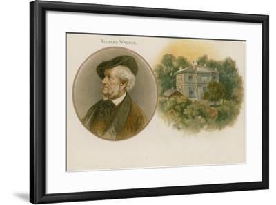 Richard Wagner, German Composer--Framed Giclee Print