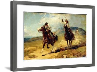 The Horse Thief, 1925-Frank Tenney Johnson-Framed Giclee Print