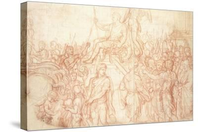 The Triumph of Emperor Constantine-Charles Le Brun-Stretched Canvas Print
