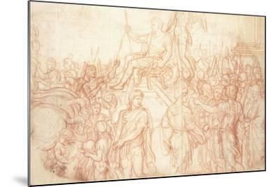 The Triumph of Emperor Constantine-Charles Le Brun-Mounted Giclee Print