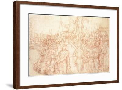 The Triumph of Emperor Constantine-Charles Le Brun-Framed Giclee Print