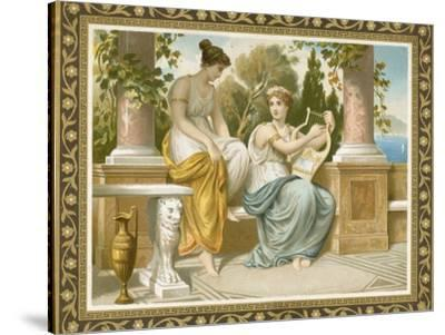 Ancient Greek or Roman Costume--Stretched Canvas Print