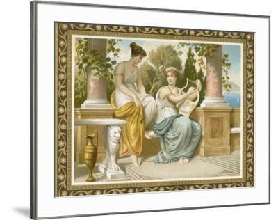 Ancient Greek or Roman Costume--Framed Premium Giclee Print