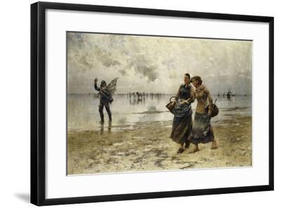 Low Tide-August Wilhelm Nikolaus Hagborg-Framed Giclee Print