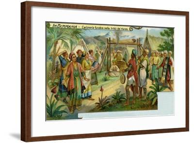Funeral Ceremony Among the Karen Tribe in Burma--Framed Giclee Print