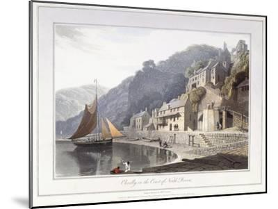 Clovelly, on the Coast of North Devon, 1814-William Daniell-Mounted Giclee Print