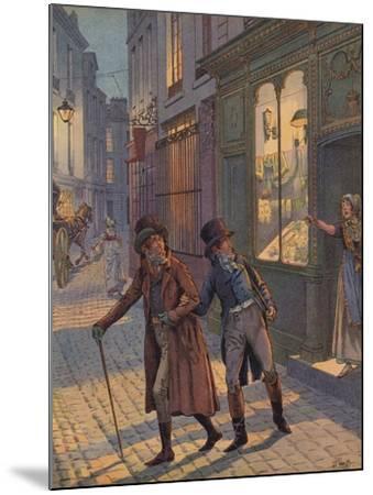 A Street Scene in Paris--Mounted Giclee Print