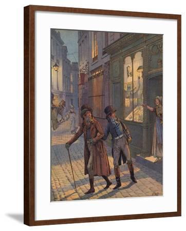 A Street Scene in Paris--Framed Giclee Print