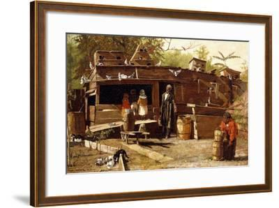 Uncle Ned at Home, 1875-Winslow Homer-Framed Giclee Print