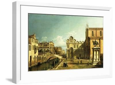 The Campo Santi Giovanni E Paolo, Venice, 1738-9--Framed Premium Giclee Print