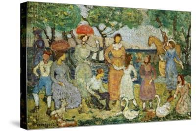 Promenade #2-Maurice Brazil Prendergast-Stretched Canvas Print