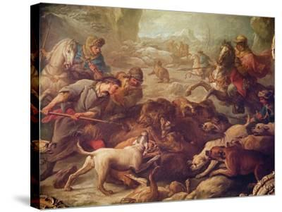 The Bear Hunt-Carle van Loo-Stretched Canvas Print