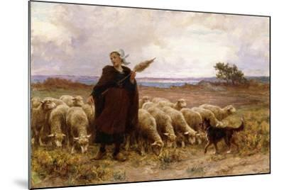 Shepherdess with Her Flock, 1907-Theophile Louis Deyrolle-Mounted Giclee Print