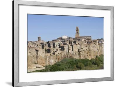 The Town of Pitigliano, Maremma, Tuscany, Italy--Framed Photographic Print