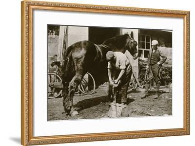 The Village Blacksmith--Framed Photographic Print